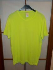 B&c Collection for men vintage t-shirt verde flúor amarillo XXL ligeramente transparente gay