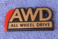 NOS NEW OEM GOLD Subaru AWD All Wheel Drive Emblem Badge Nameplate