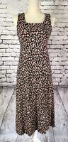 Vintage Rabbit Rabbit Rabbit Designs Floral Market Dress Womens Size 4 Petite