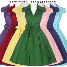 1950s 60s Vintage Retro Style Cocktail Evening Housewife Full Circle TEA Dresses