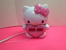 Hello Kitty KT2064 AM FM Projection Alarm Clock Radio Pink White Tested Video