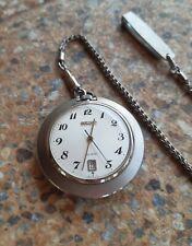 Vintage Seiko Electronic EL-370 JDM  3702 0010 JUNE 1972 Pocket Watch
