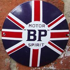 BP ENAMEL SIGN logo garage petrol oil porcelain VAC171