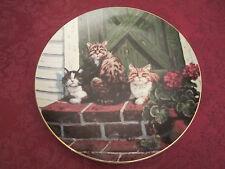 SUN WORSHIPPERS Collector Plate LOWELL DAVIS Schmid RARE Friends of Mine CATS