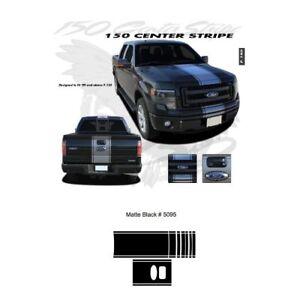 Ford F-150 2009 up Center Stripe Graphic Kit - Matte Black