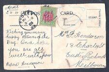 AUSTRALIA  VICTORIA PPC Sc V27 DUE ARR CDS SYDNEY 1905