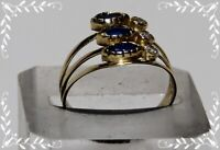 Designer Ring 3 reihig 585 Gold