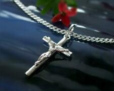 Kreuz Anhänger Silber 925 echt Sterlingsilber Kreuz Kette 50 -55 cm massiv sh69