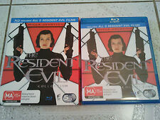 RESIDENT EVIL COMPLETE BLU RAY COLLECTION 5 MOVIES BOX SET WITH SLIP CASE RARE