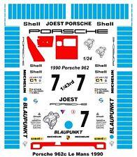 #7 Blaupunkt Porsche 1990 1/43rd Scale Slot Car Waterslide Decals