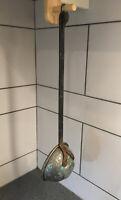 "Antique Old Wrought Iron / Copper Ladle 20"" Collectible Rare / Genuine Rare"