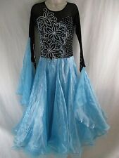 Women's Multi Color Long Sleeve Rhinestone Prom Bridal Evening Formal Gown   p3