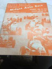 1965 Badger Midget Racing 100 Mile Racing Program Milwaukee Mile Wisconsin