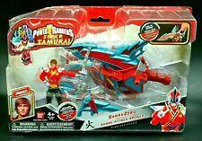 Power Rangers Super Samurai Shark zord and Shark Attack Ranger Fire Brand New