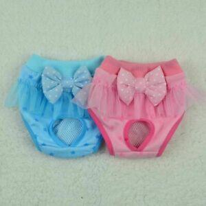 Female Puppy Dog Sanitary Pants Pet Washable Short Panties Diaper Underwear USA