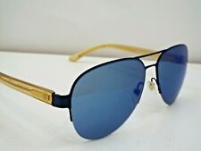 Authentic Tory Burch TY 6048 314755 Matte Blue Pinot Blue Mirror Sunglasses $215