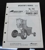 AVCO New Idea No. 703 Uni-System Power Unit Owners Operator's Manual US-158