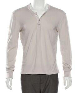 💯TOM FORD Long Sleeve Henley Crème Crewneck Size 50/Large
