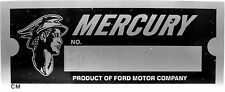 Mercury Ford Motor Co Body Model Trim Number VIN Plate Tag part company ID