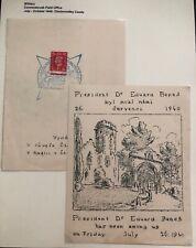 1942 Czechoslovakia Forces Field Post England Leaflet Cover President Eduard Ben