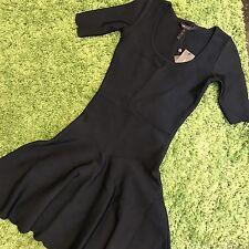 NWT BCBGMaxazia Black Bandage Aline Dress size XXS