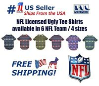 NFL Ugly Tee Shirt for DOGS & CATS. Cutest Licensed Pet Shirt. 4 sizes available