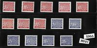 #5966   Complete MNH stamp set /  Third Reich Germany Occupation during WWII