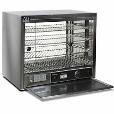New Commercial Pie Food Warmer Display Cabinet 304 Stainless Steel 1000W
