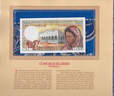 Most Treasured Banknotes Comoros 1976 500 Francs P7a Gem UNC Serie Y.1 002331310