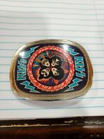 RARE KISS ROCK AND ROLL OVER 1977 PACIFICA BELT BUCKLE AUCOIN