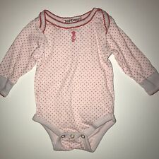 Juicy Couture Baby Girl  Size 0-3 Months Body Suit Long Sleeve D