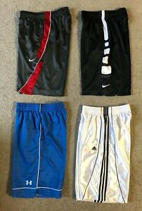 Lot 4 Pairs Men's Basketball Shorts - Nike, Under Armour, & Adidas - Size Small