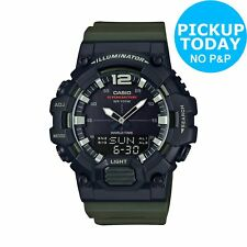 Casio Men's Count Up Bezel Green Resin Strap Chronograph Analogue/Digital Watch