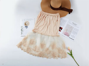 Lace Shirt Extender, Lace Half Slip Extender Top,Trendy layering under Sweater
