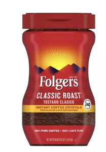 Folgers Classic Roast Instant Coffee Crystals - (16 oz.) New