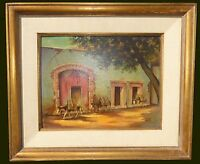 Vintage Spanish Style Mule Oil Painting Signed by Albert Ennis California Artist