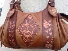 Premium Leather Purse, Hand-tooled Handbag, Authentic Mexican Craftsmanship