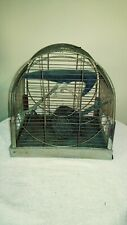 Vtg. Wire Bird Cage With Vtg. Stuffed Crow & Nest Needs Refurbished