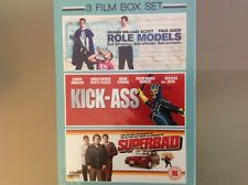 ROLE MODELS / KICK-ASS / SUPERBAD 3 FILM DVD BOX SET - BRAND NEW AND SEALED