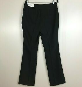 Ann Taylor Factory Womens Sz 8 The Trouser Curvy Fit Mid Rise Black Dress Pants