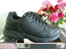 New Women's WORK ZONE OXFORD SHOE 14318 Size 7 BLACK Slip Resistant Comfort