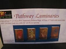 NEW IN BOX! SET of 4 CHRISTMAS PATHWAY LUMINARIES -  By December Home