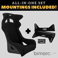 Bimarco Hummer Racing Seat BLACK VELOUR Set with Bracket Mountings Included!
