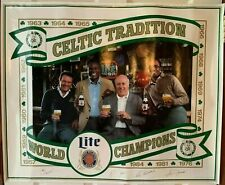 Vintage 1986 Miller Lite Boston Celtics Poster 24X30 NBA Red Jones Heinsohn