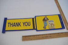 ~Camel Cigarettes~1991 Plastic Slider Sign~Open / Closed / Thank You~