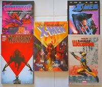 5X MARVEL X-MEN TPB LOT/UNCANNY X-MEN PHOENIX/ONSLAUGHT/SAVAGE WOLVERINE/THE END