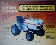 Sears Craftsman FF/18 FF/20 24 GTV/16 Lawn Garden Tractor Sales Brochure Riding