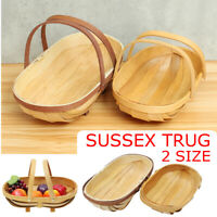 Wooden Garden Fruit Vegetables Basket Trug Sussex Trug Home Decor Gift Hand Made
