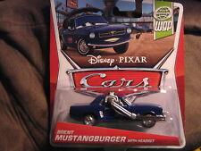 DISNEY PIXAR CARS 2 WORLD GRAND PRIX SERIES BRENT MUSTANGBURGER WITH HEADSET