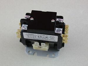 Hvacstar SA-2P-40A-24V Definite Purpose Contactor 2Pole 40FLA 24V AC Coil